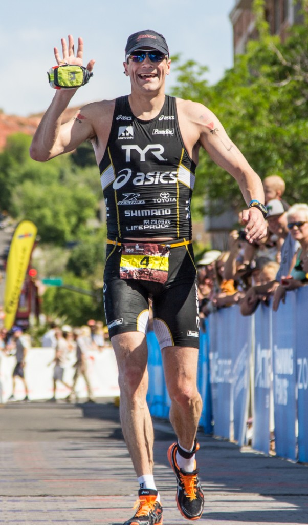 Andy Potts 3rd place pro Ironman 70.3 St. George