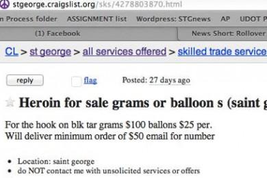 Heroin For Sale On St George Craigslist Cedar City News