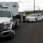 Traffic collision near 260 North, Dixie Drive resulted in traffic delays, St. George, Utah, July 28, 2014 | Photo by Drew Allred, St. George News