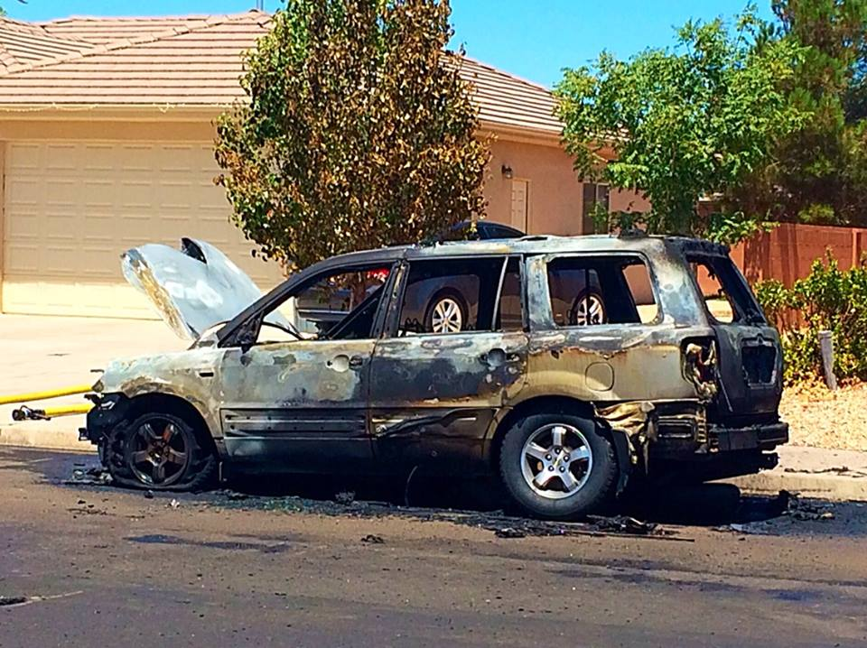 Woman Removes Children From Suv Before It Bursts Into Flames