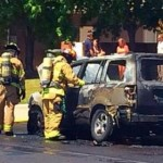 Fire destroys a Honda Pilot SUV, Washington, Utah, July 21, 2014 | Photo by Kimberly Scott, St. George News