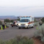 Responders attend to a fatal shooting in Leeds, Utah, July 17, 2014 | Photo by T.S. Romney, St. George News