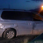 The Honda Odyssey sits off to the side of Interstate 15 just south of the Southern Parkway Exit, Utah, Sept. 19, 2014 | Photo by Aspen Stoddard, St. George News