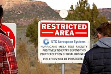 "L-R: ""No Filter Show"" Co-hosts Paul Ford, Grady Sinclair, at the base of Hurricane Mesa, Hurricane, Utah, December 2014 | Photo by Dan Fowlks, St. George News"