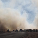 Smoke blocks visibility on 700 West near 1500 South in Hurricane, Utah, Jan. 24, 2015 | Photo courtesy of Scott Adams, St. George News