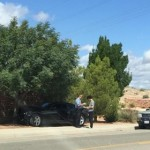 A teen driver receives a citation after an accident at Hidden Valley Drive and Price Hills Drive, St. George, Utah, May 15, 2015 | Photo courtesy of DeeAnna Waddell, St. George News