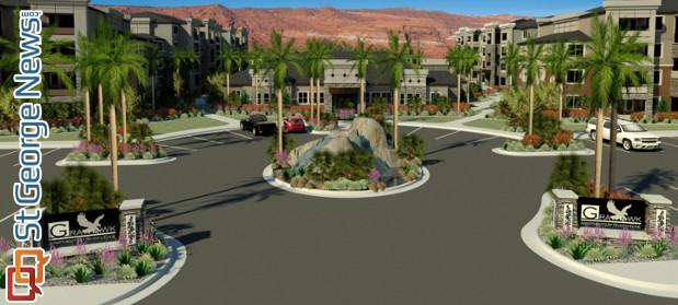 land sale finalized for massive luxury apartment complex at dinosaur crossing cedar city news. Black Bedroom Furniture Sets. Home Design Ideas
