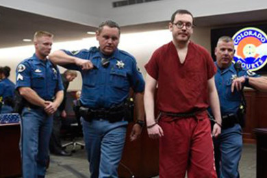 Colorado theater shooter James Holmes is led out of the courtroom after being formally sentenced on Wednesday, Aug. 26, 2015 in Centennial, Colo.  Holmes was sentenced to life in prison without parole by Judge Carlos Samour Jr.  Holmes killed 12 people and injured 70 others in the July 20, 2012 ambush. | AP Photo by RJ Sangosti The Denver Post, St. George News