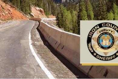 Background: Yankee Meadows Road, Iron County, Utah | File photo, St. George News