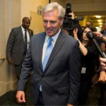 House Majority Leader Kevin McCarthy, of California, walks out of a nomination vote meeting on Capitol Hill after dropping out of the race to replace House Speaker John Boehner, Washington, D.C., Oct. 8, 2015 | AP photo by Evan Vucci, St. George News