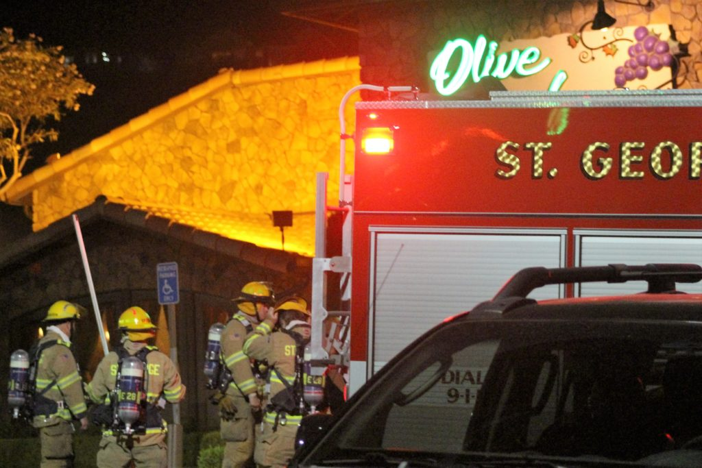 olive garden patrons evacuated when fire breaks out cedar city news