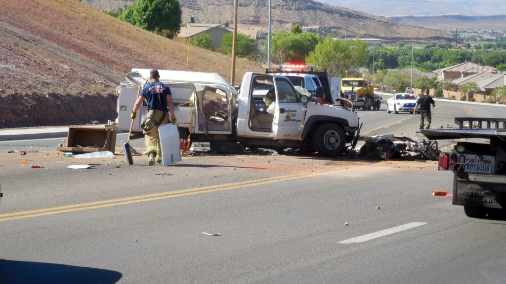 collision with semi results in serious injuries  scattered