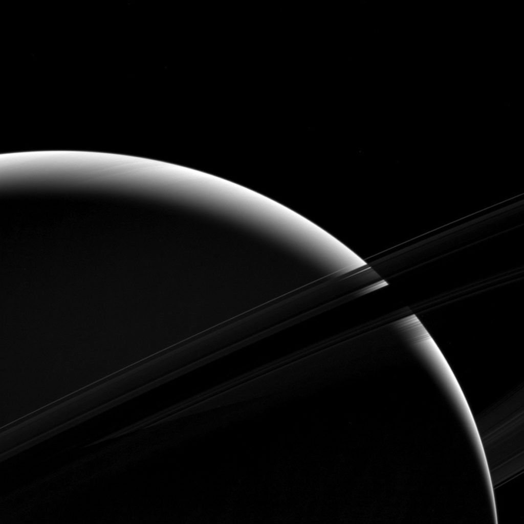Of planet earth as a point of light between the icy rings of saturn - Saturnshadow 1024x1024 Jpg