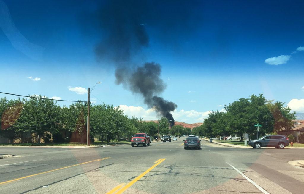 Firefighters Battle Backyard Blaze Consuming Sheds Cedar