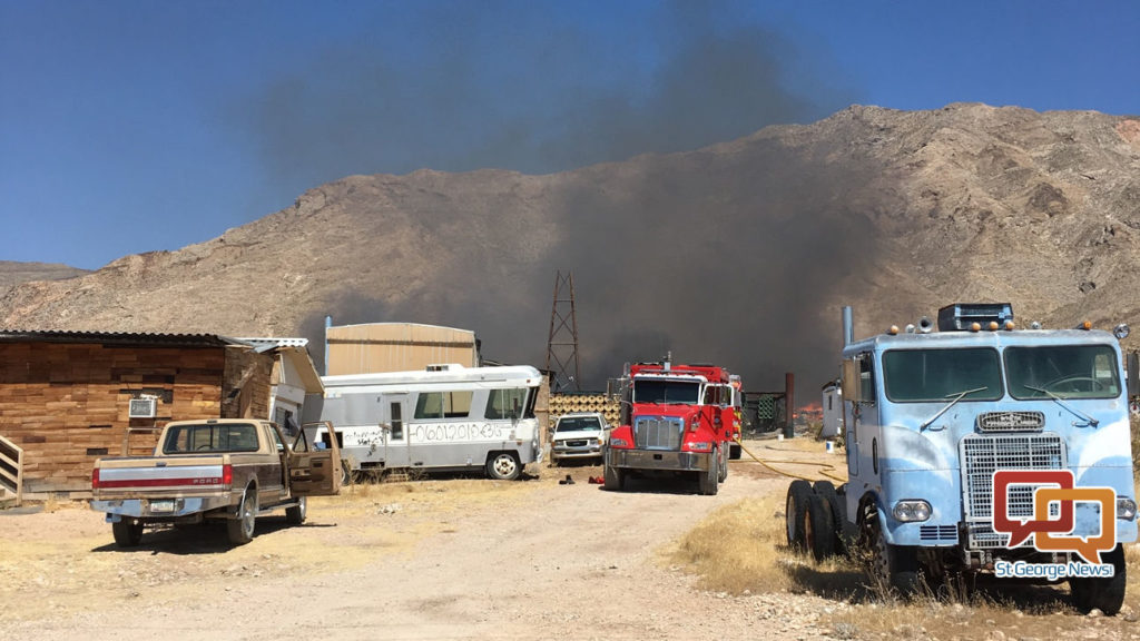Fire Engulfs Mobile Home In Rural Arizona Community