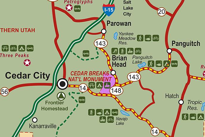Cedar Breaks Map