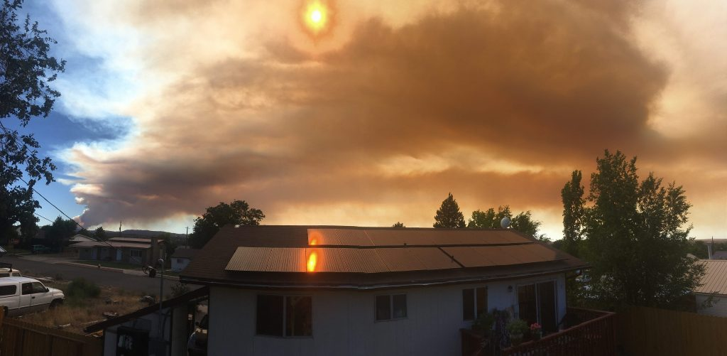 Fire on Pine Valley Mountain changes directions but still ...