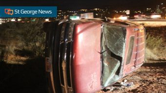 Rollover follows rear-end collision on southbound I-15