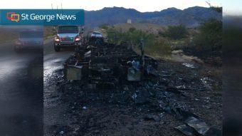 Early morning fire destroys RV near Littlefield, Arizona – Cedar