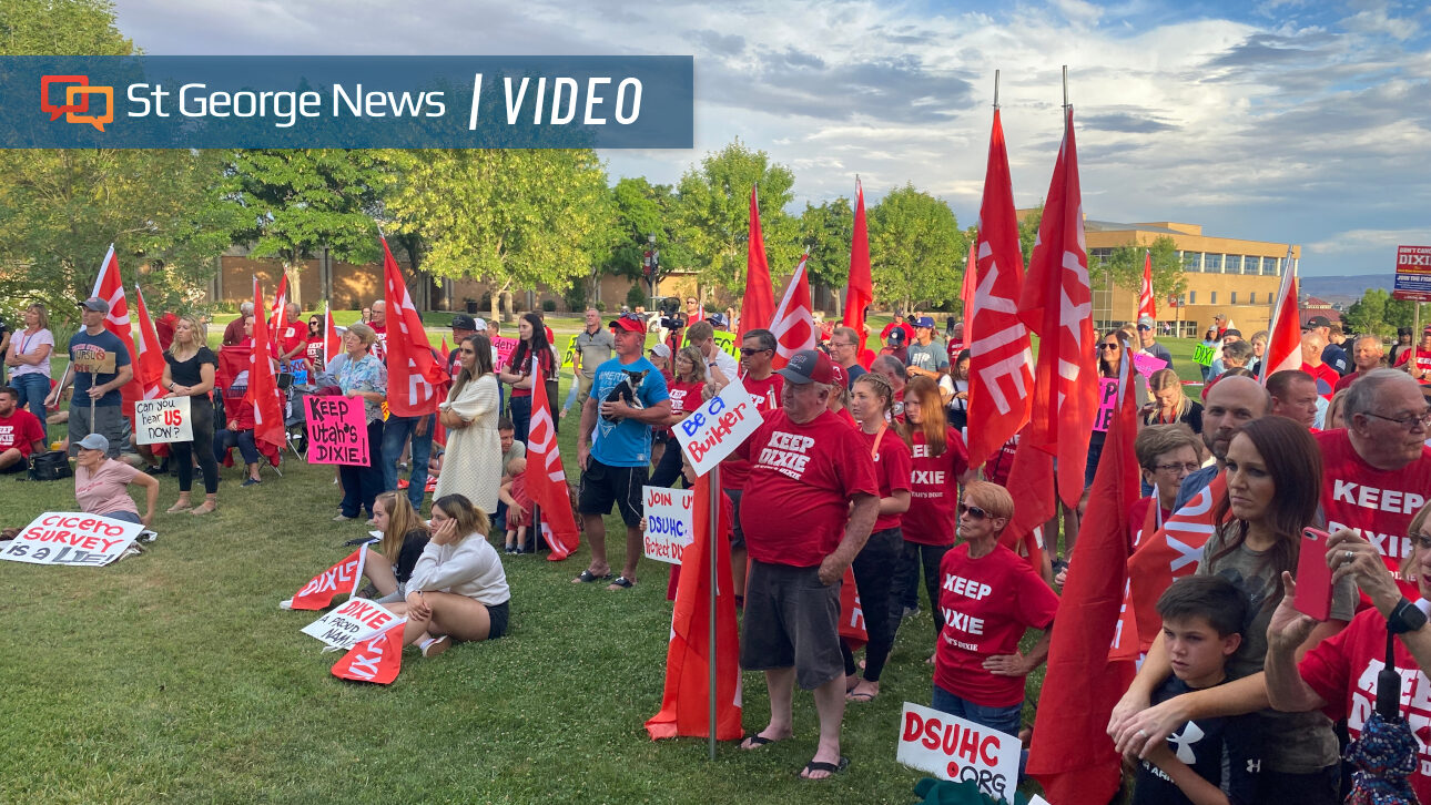 'Dixie' supporters, other university name change critics protest proposed 'Utah Polytechnic State'